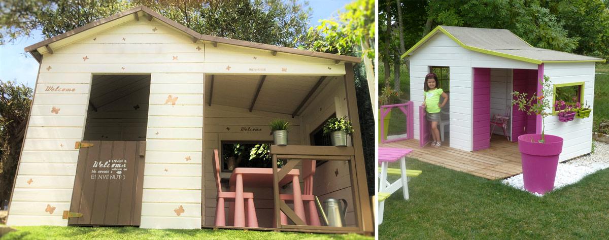 Cabane en bois avec veranda
