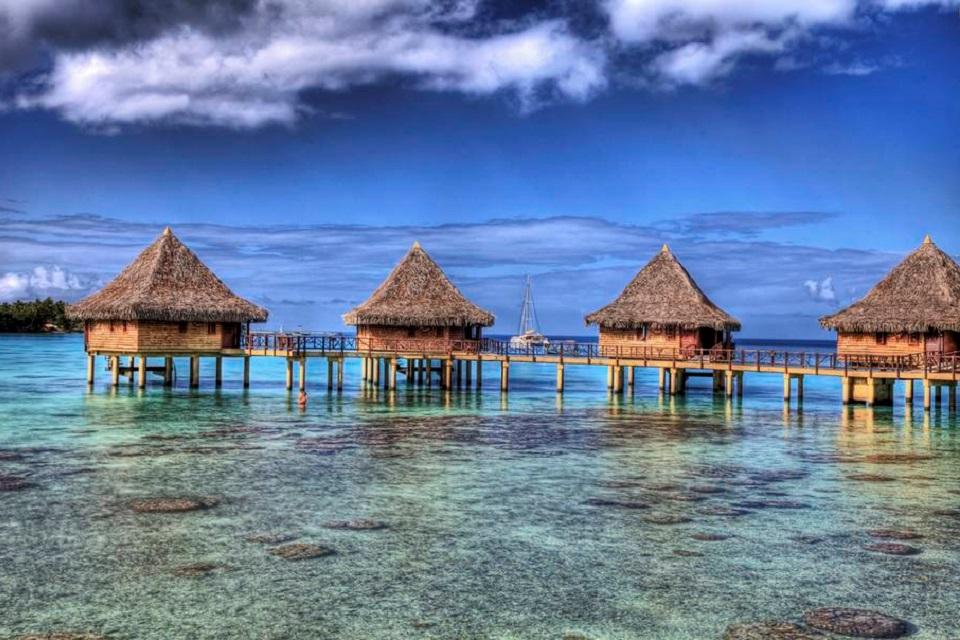 Cabane sur l'eau tahiti