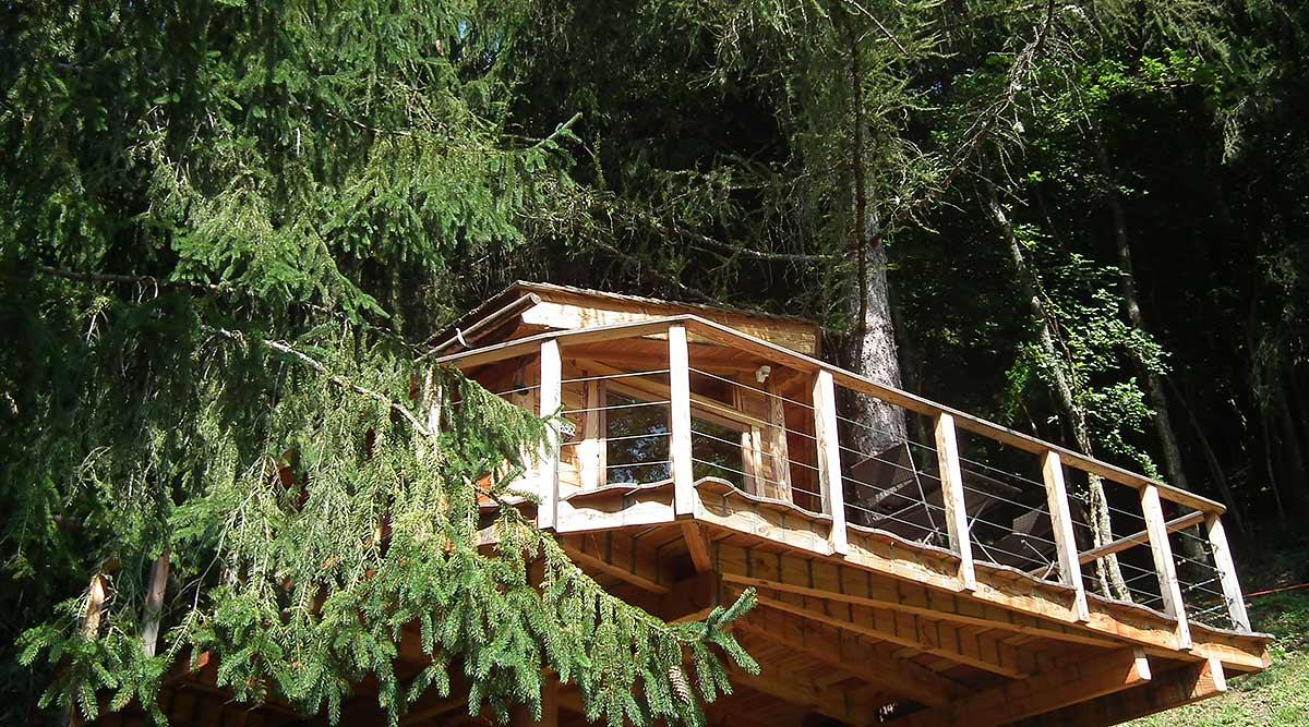 Cabane dans les arbres ouest