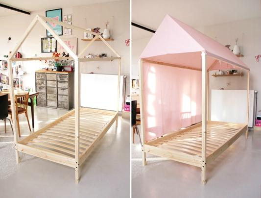Fabriquer lit cabane en carton