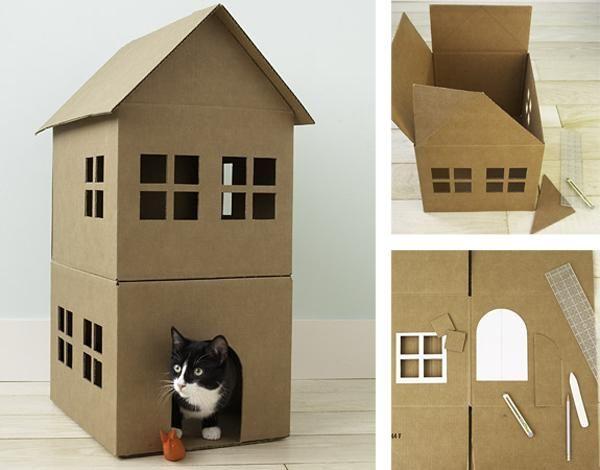Fabriquer une cabane en carton pour chat