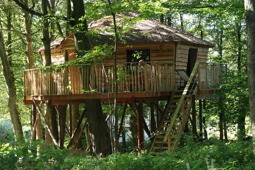 Cabane arbre tende