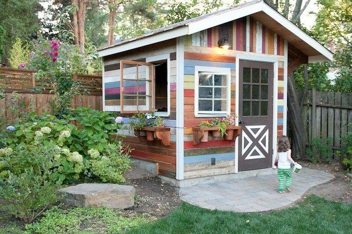 Cabane de jardin couleur