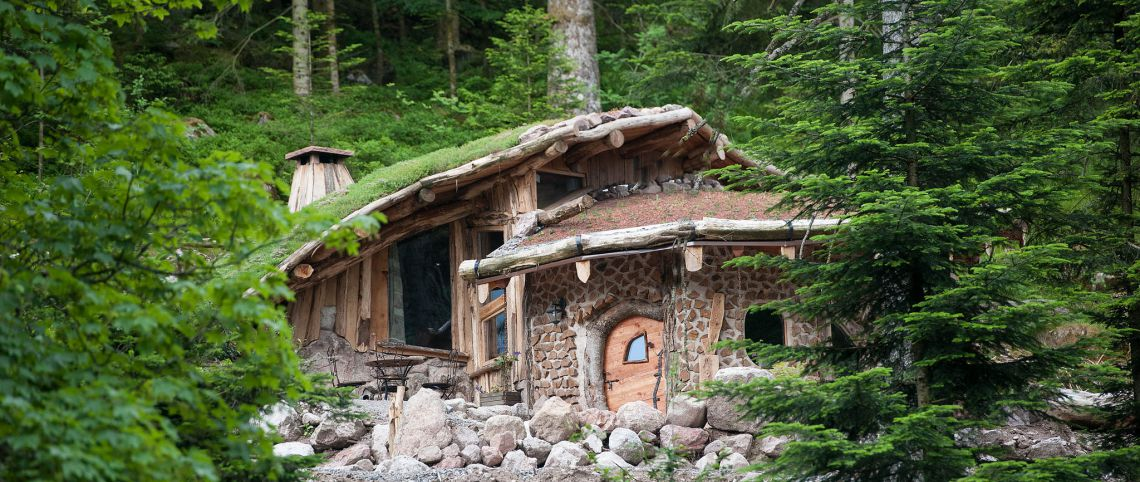 Cabane dans les bois en france