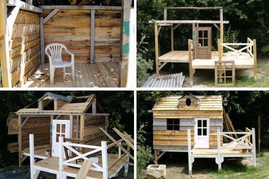 Plan de construction cabane en bois sur pilotis