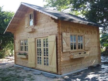 Cabane bois de 20m2 en kit
