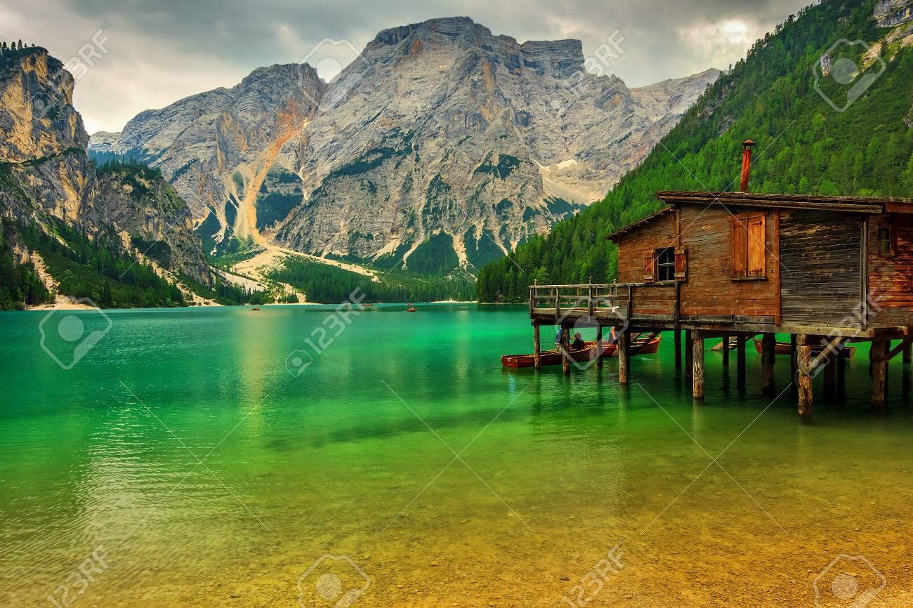 Cabane sur l'eau italie