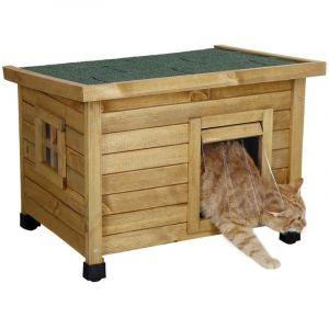 Cabane pour chat en bois