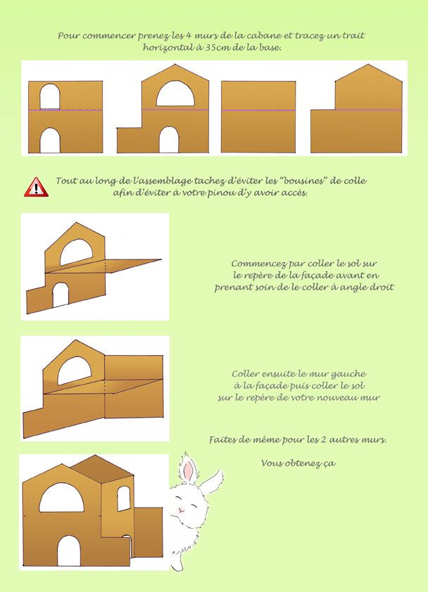 Cabane en carton maison