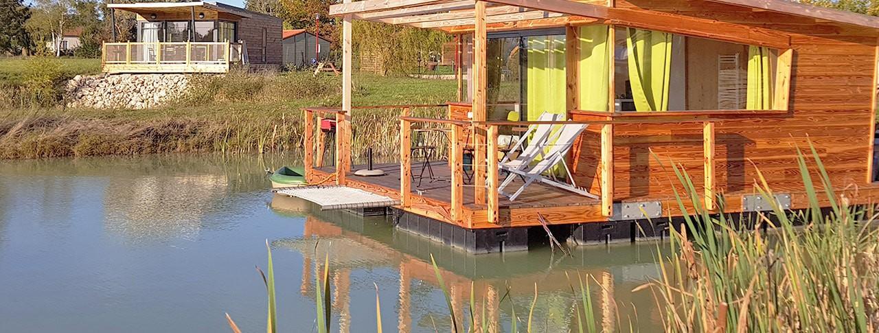 Cabane sur l'eau forcé
