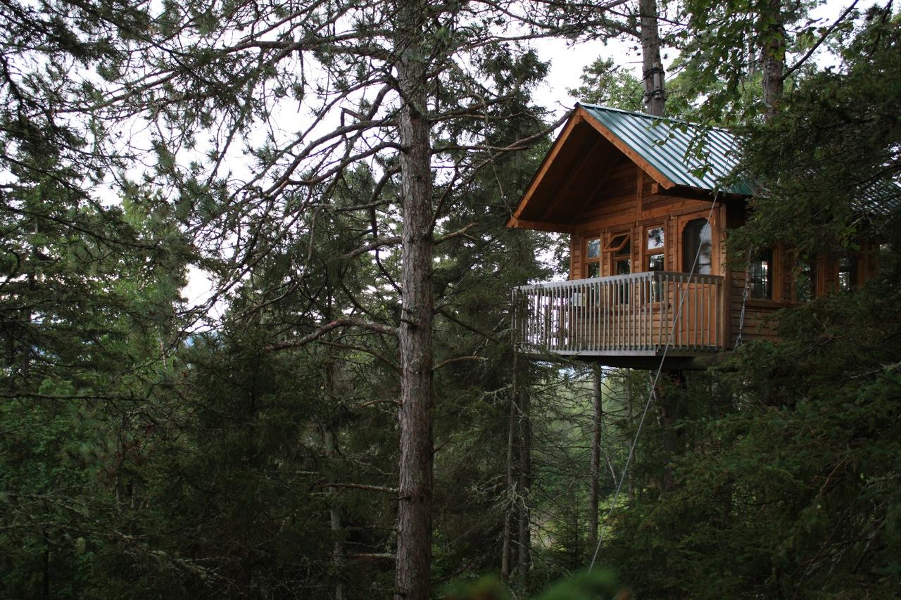 Cabane dans les bois tremblant