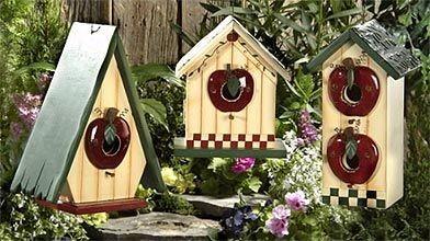 Cabane a oiseaux artisanale