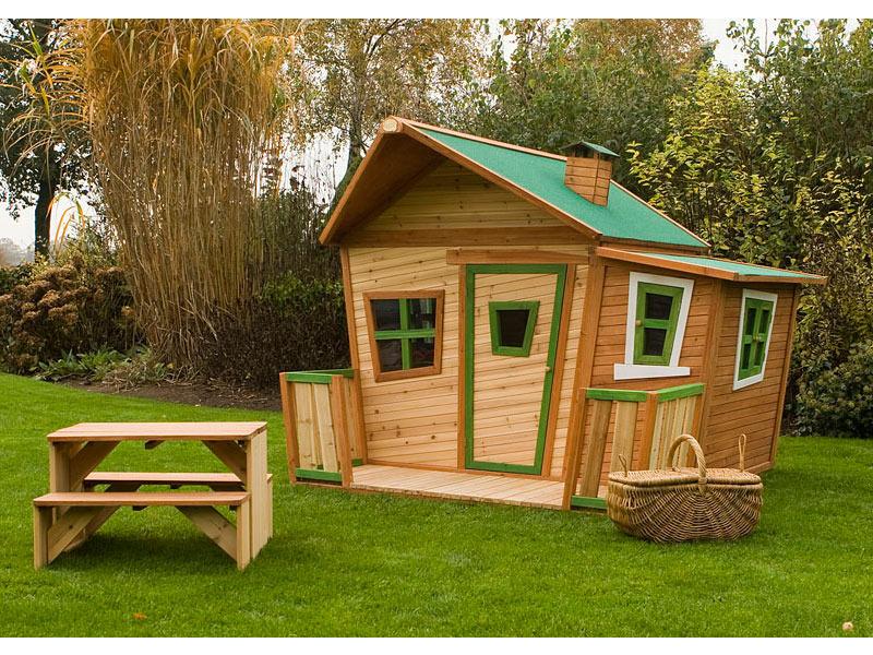 maisonnette bois jardin