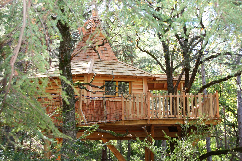 Cabane dans les arbres avignon