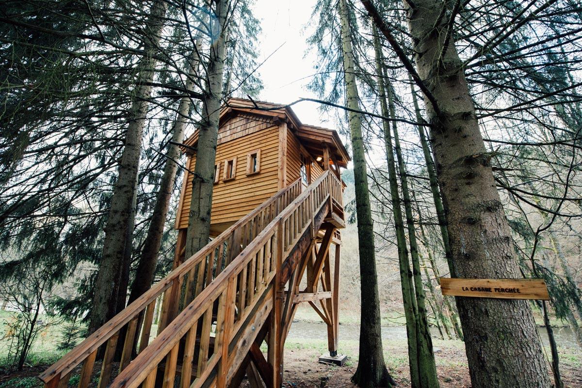 Cabane dans les bois houffalize