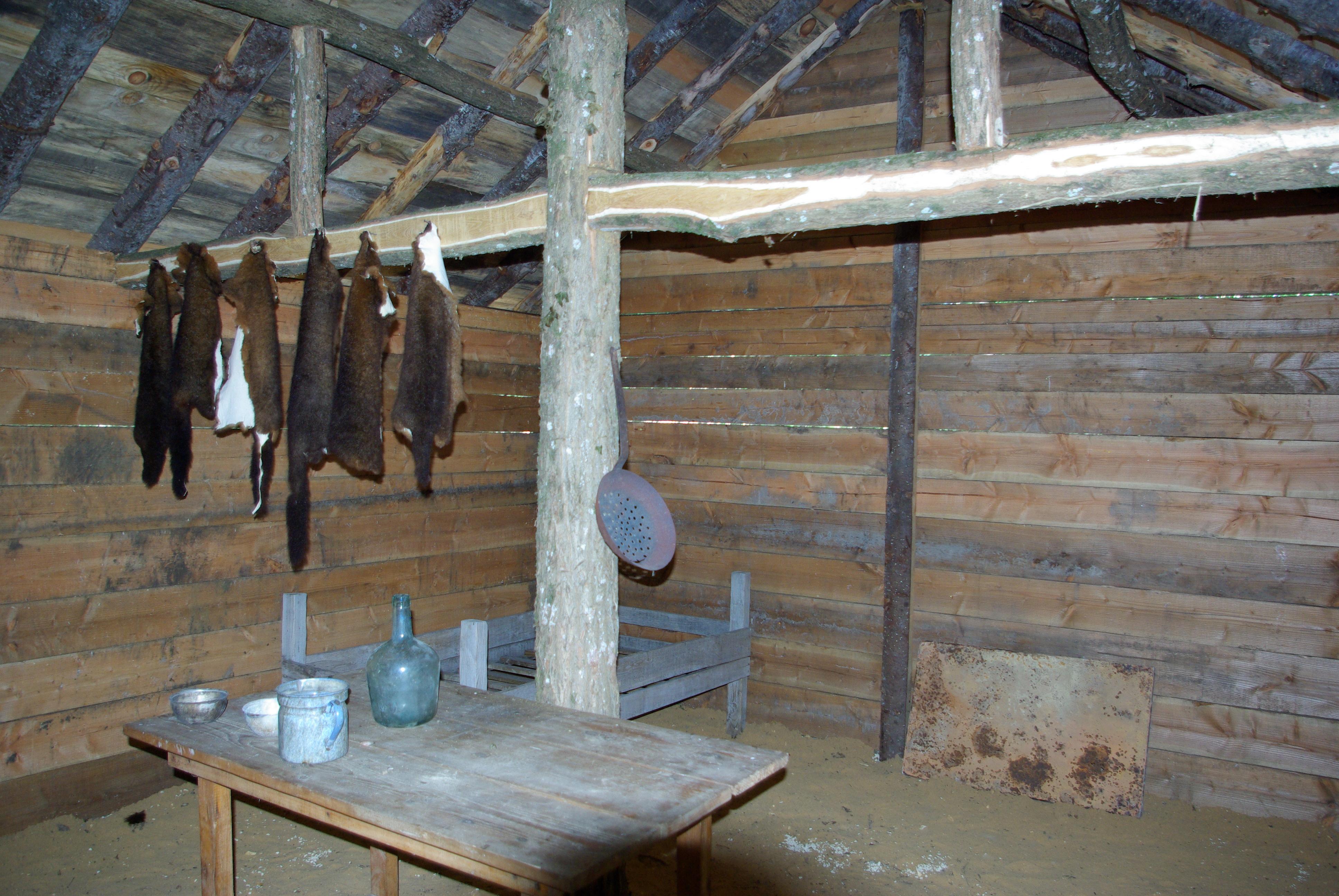 Cabane en bois interieur