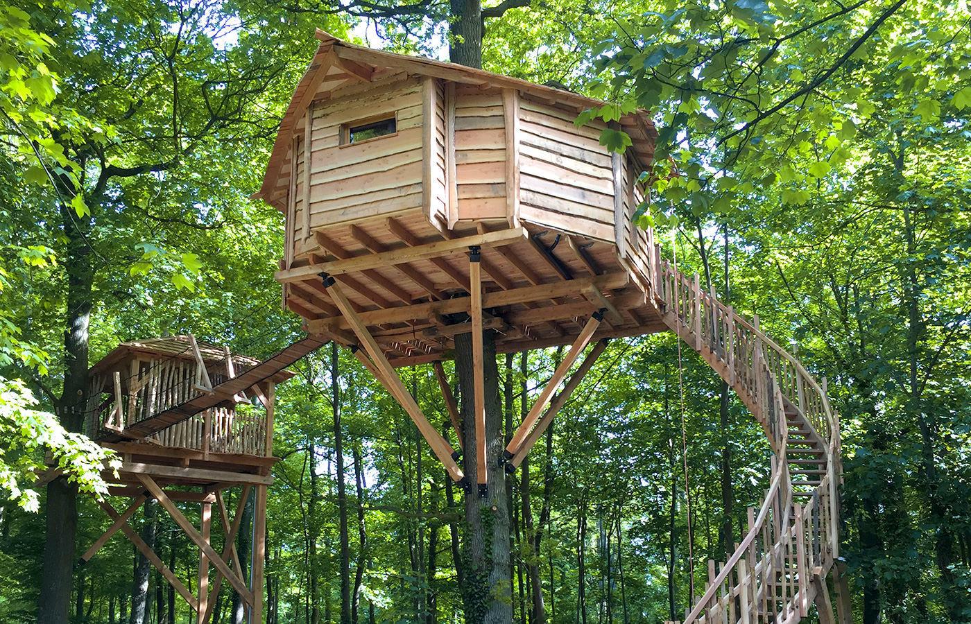 Cabane dans les arbres image
