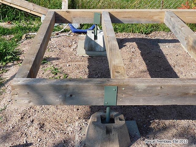Cabane en bois fondation