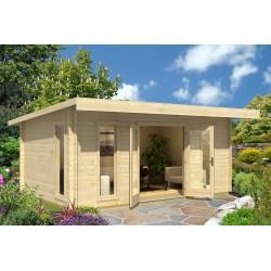 Cabane de jardin toit plat