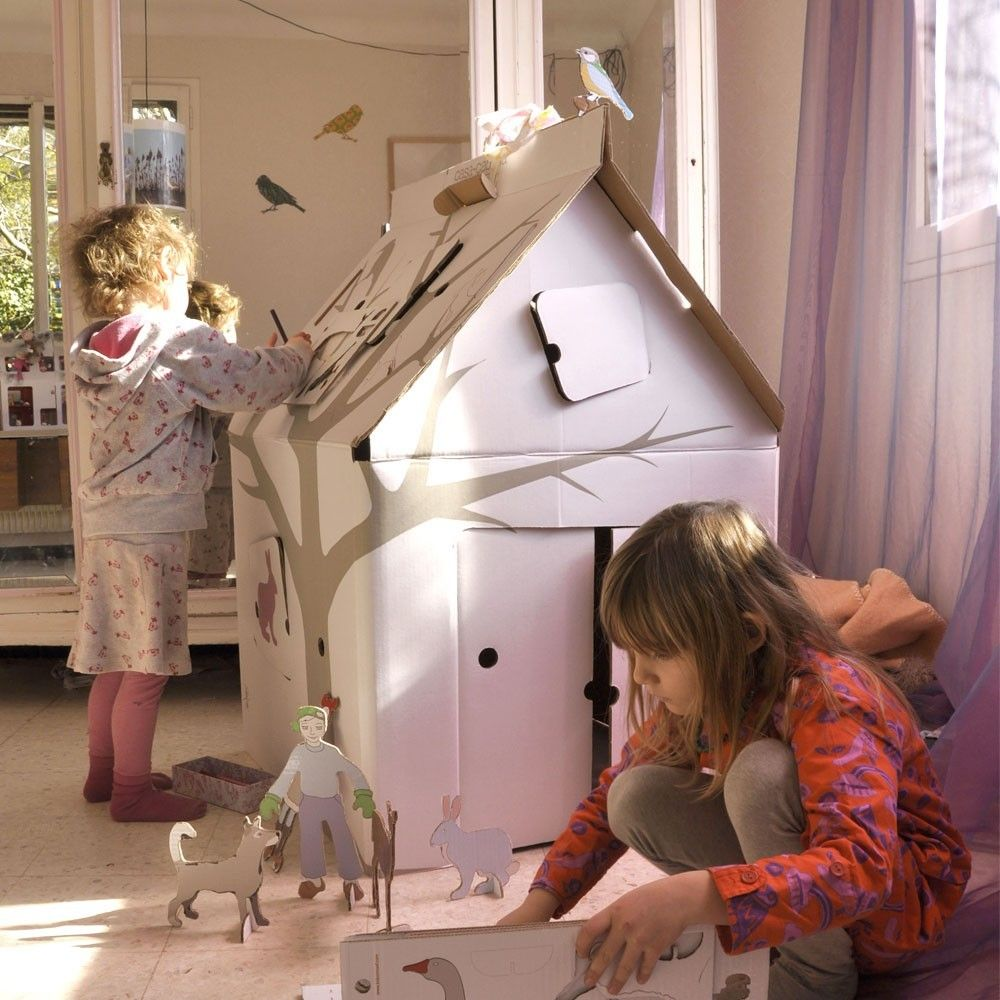 Cabane en carton casa cabana