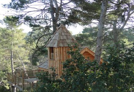 Cabane dans les bois rhone