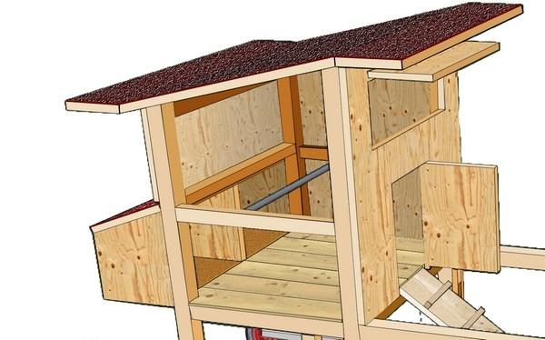 plan de cabane a poule jardin. Black Bedroom Furniture Sets. Home Design Ideas