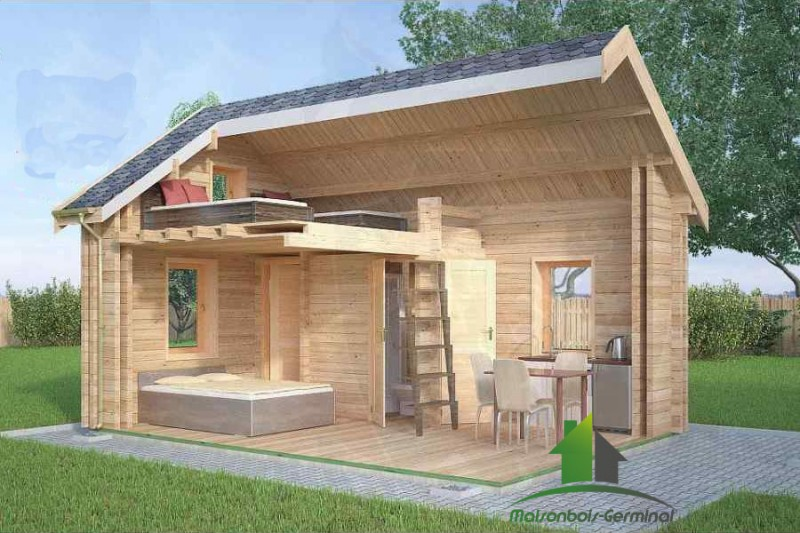 cabane habitable jardin. Black Bedroom Furniture Sets. Home Design Ideas