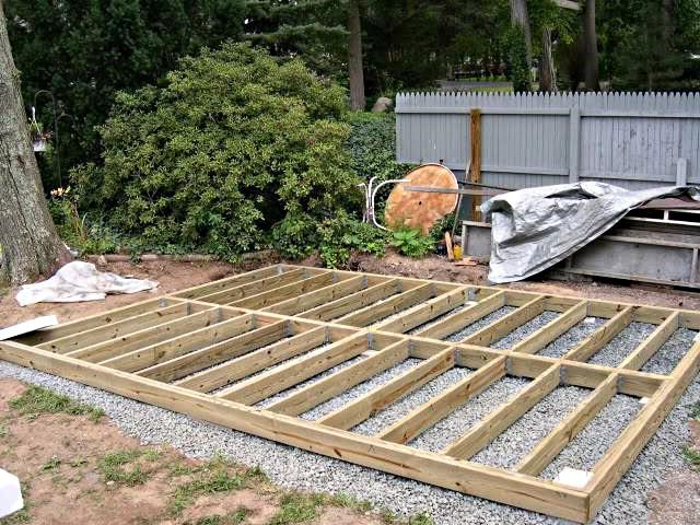 Fondation pour cabane sur pilotis jardin - Dalle en beton pour abri de jardin ...