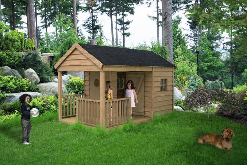 Cabane en bois fait maison - Mailleraye.fr jardin
