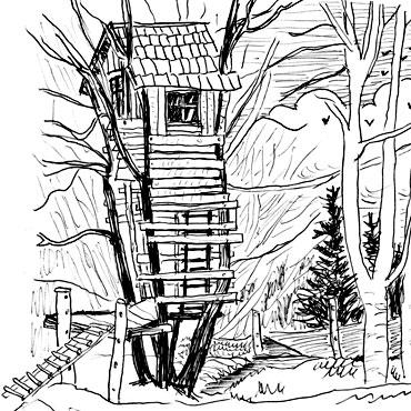 Cabane arbre dessin