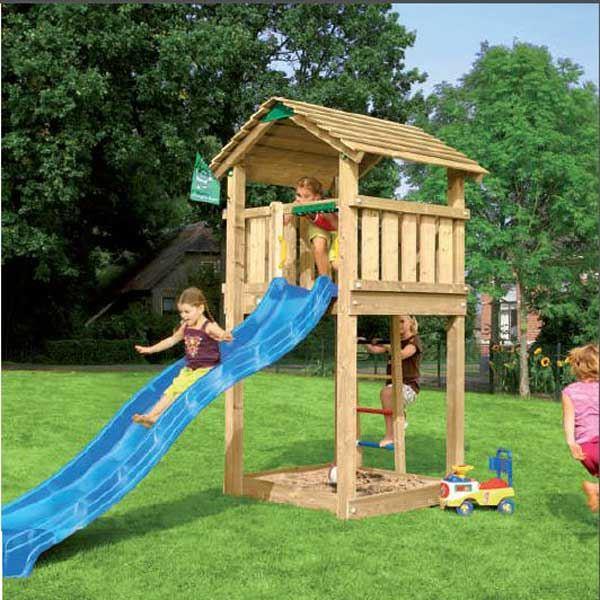 cabane avec toboggan pas cher jardin. Black Bedroom Furniture Sets. Home Design Ideas