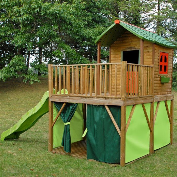 Acheter cabane en bois sur pilotis