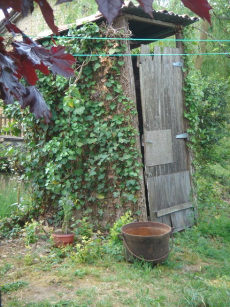 Cabane en bois au fond du jardin