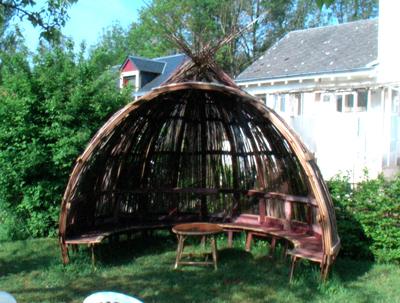 Cabane de jardin en bambou - Mailleraye.fr jardin