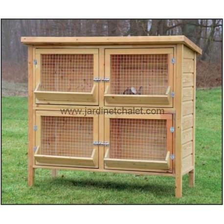 Cage a lapin double en bois