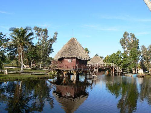 Cuba cabane sur l'eau