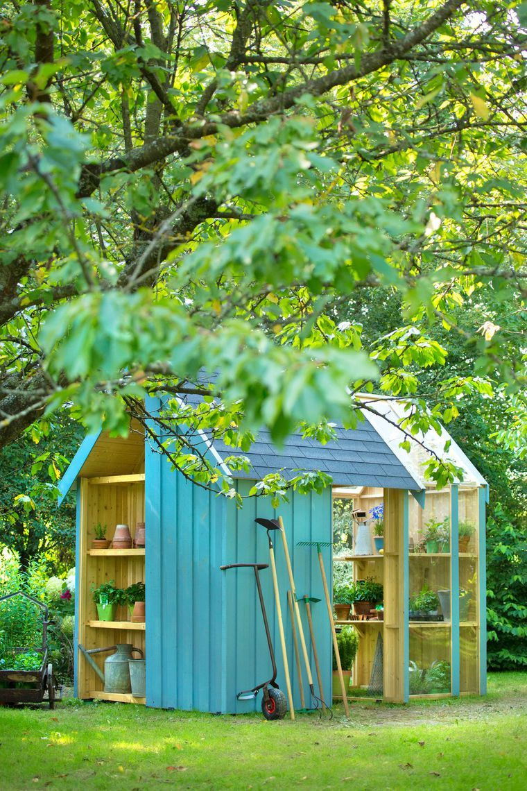 Cabane de jardin botanic