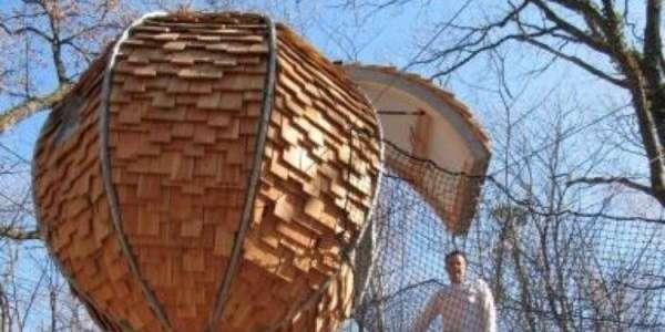 Cabane dans les bois en dordogne