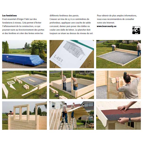 Cabane de jardin installation