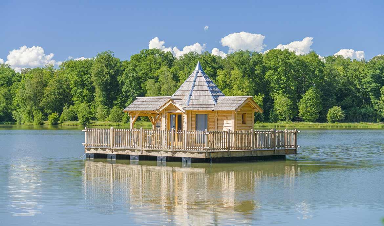 Cabane sur l'eau des grands lacs
