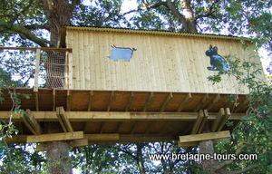 Cabane arbre sans abimer