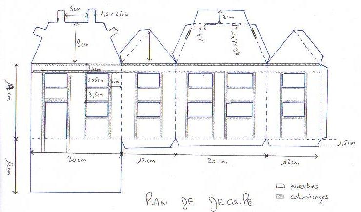 Cabane en carton patron jardin - Maison papier a decouper ...