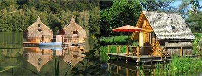 Cabane sur l'eau en normandie