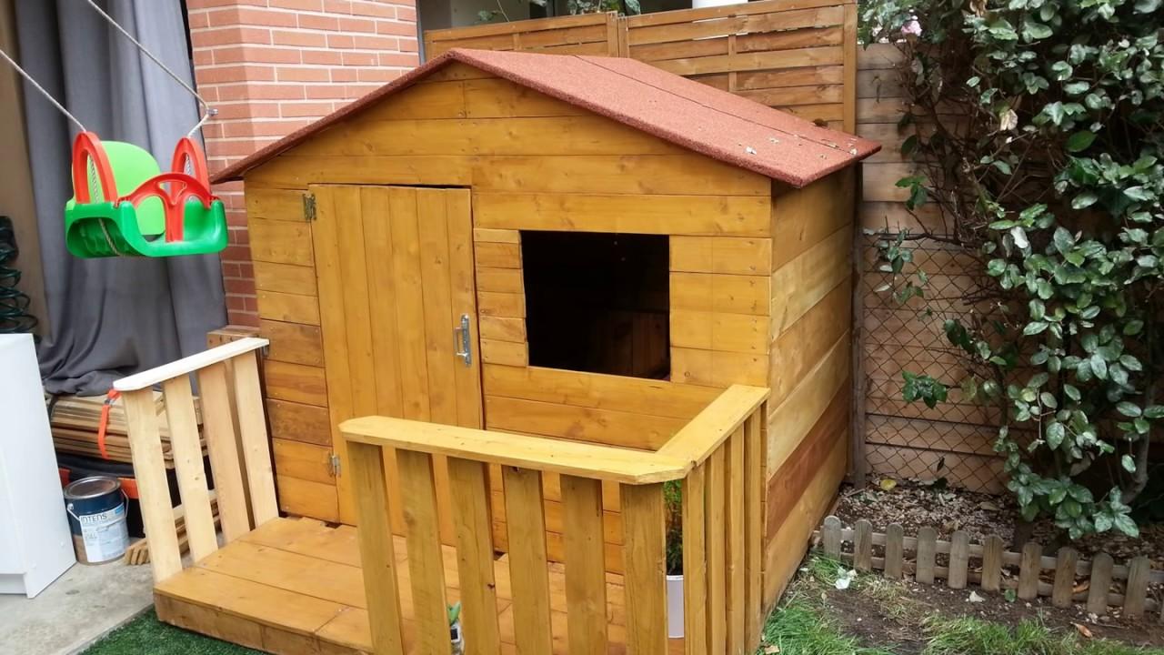 Construire une cabane a poule avec des palettes jardin - Construire cabane jardin ...