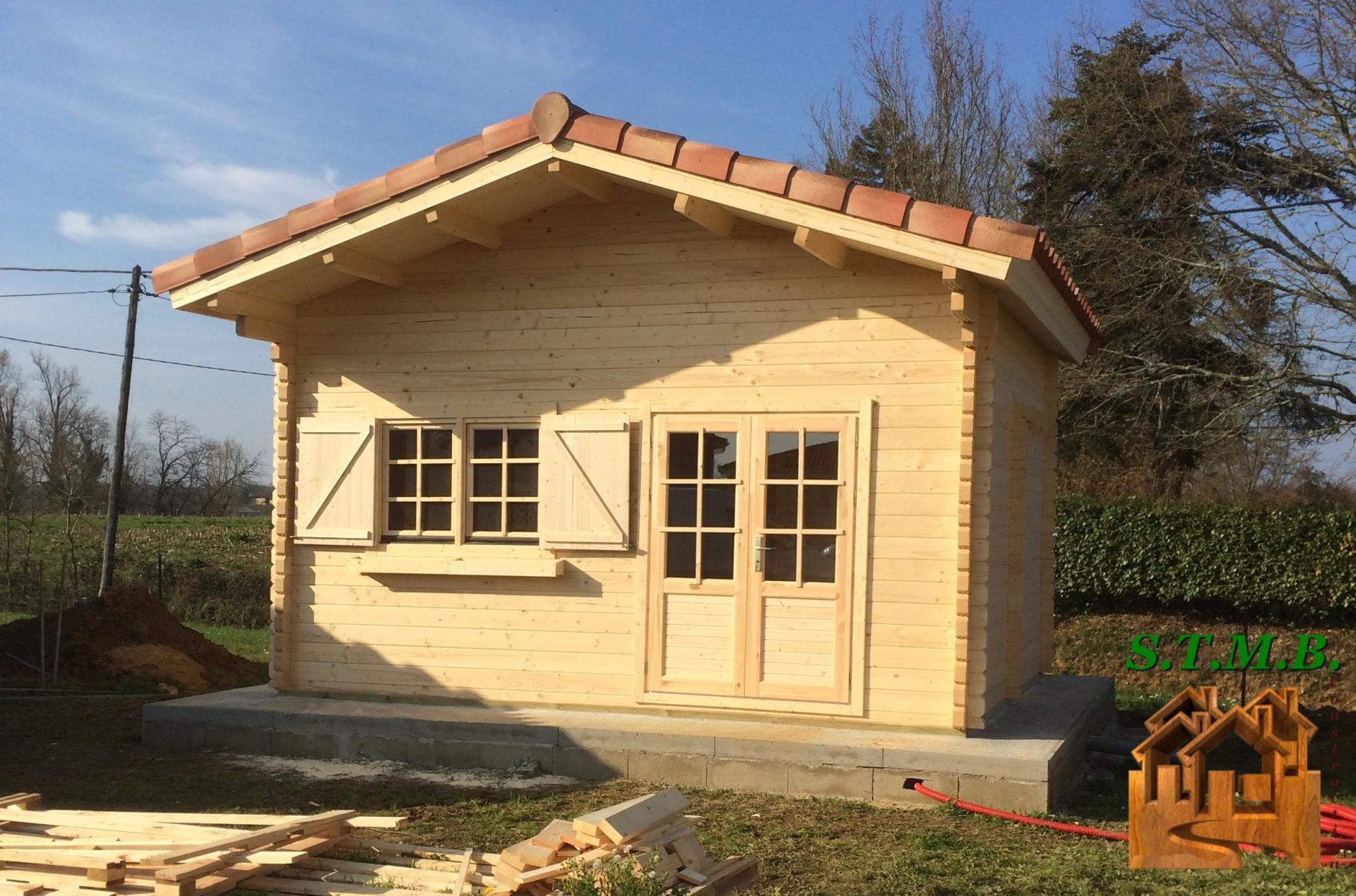 petite cabane en bois en kit jardin. Black Bedroom Furniture Sets. Home Design Ideas