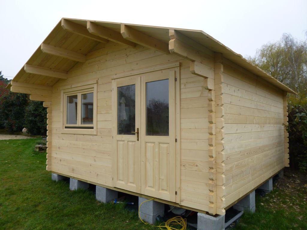 Cabane en bois habitable pas cher - Mailleraye.fr jardin