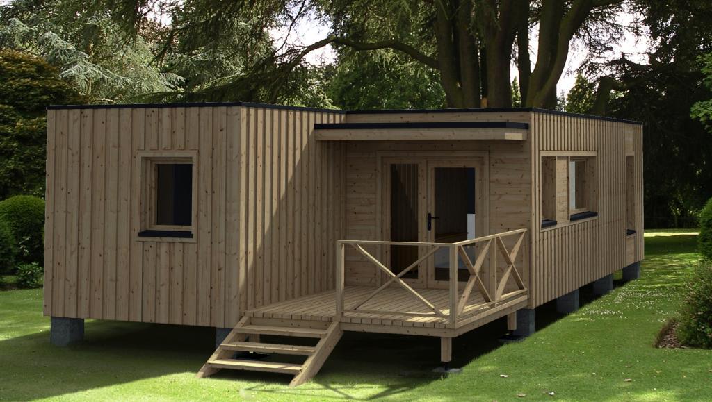 Cabane en bois bordeaux