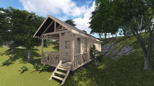 Construire une cabane en bois habitable - Mailleraye.fr jardin