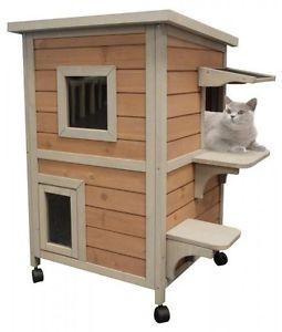 Cabane a chat bois