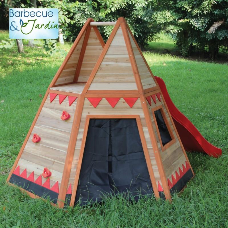 Cabane tipi bois
